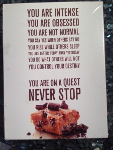 The old back of the box of Quest Bars